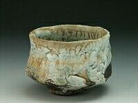 Tea bowl shino glaze